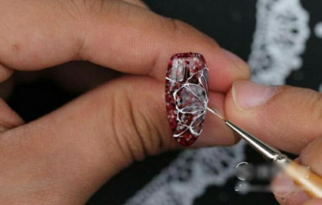 Wine red nail tutorial