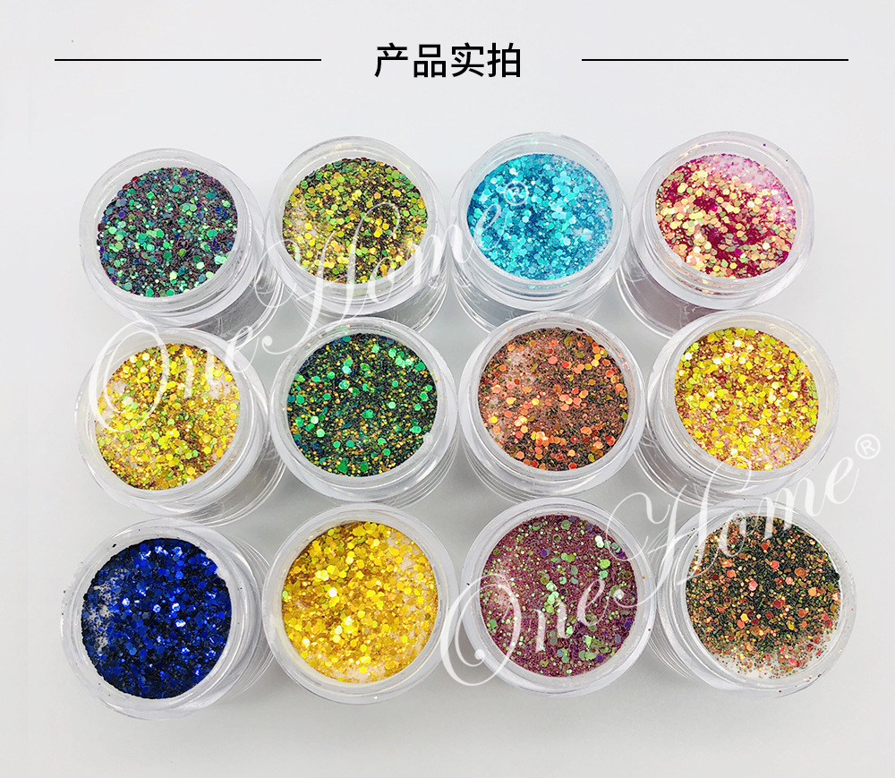 Glitter Acrylic Powder 1kg package Wholesale